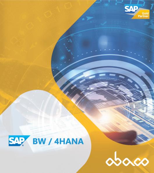 Software SAP BW4HANA Ábaco Consulting