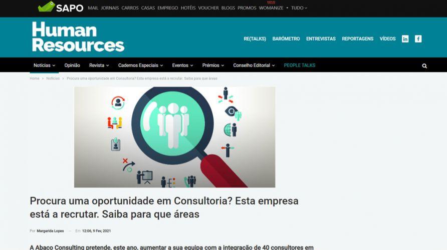 Human Resources – Procura uma oportunidade em Consultoria?