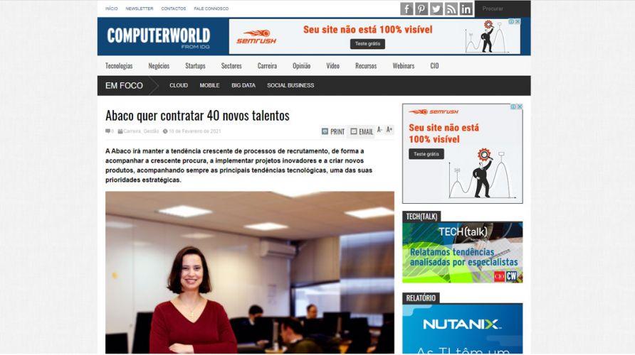Computer World – Abaco quer contratar 40 novos talentos