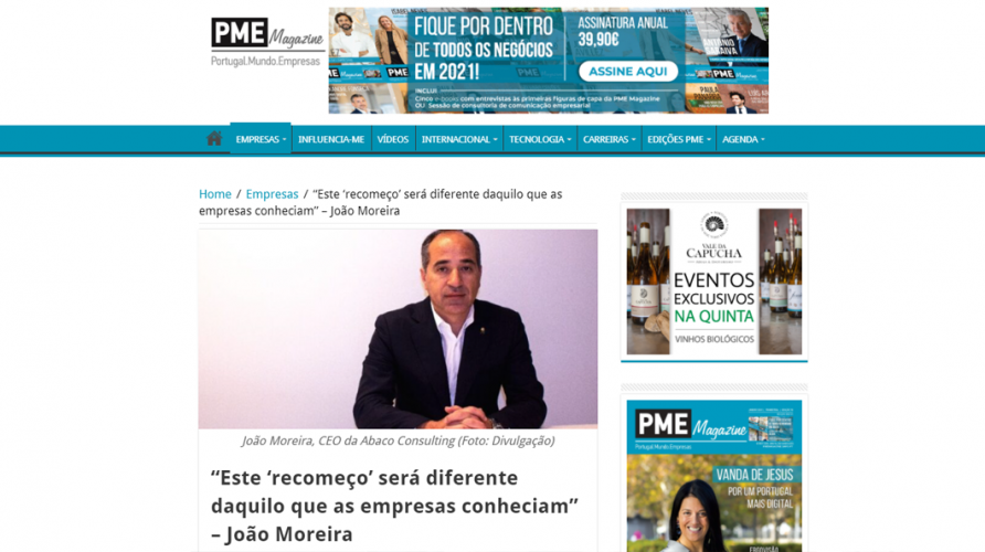 """PME Magazine – """"Este 'recomeço' será diferente daquilo que as empresas conheciam"""""""