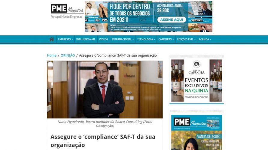 PME Magazine – Assegure o 'compliance' SAF-T da sua organização