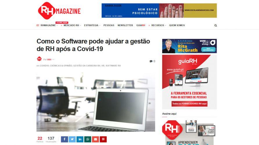 RH Magazine – Como o Software pode ajudar a gestão de RH após a Covid-19