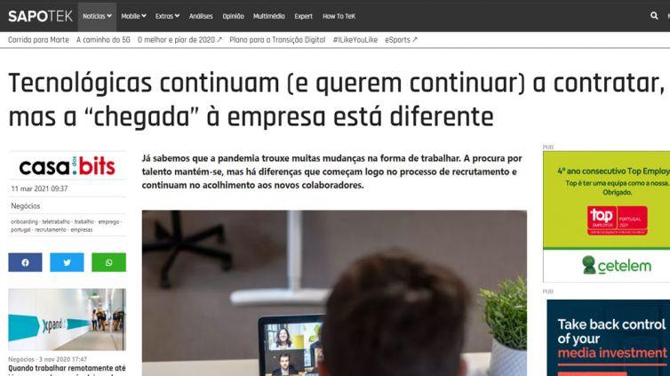 """TEK SAPO – Tecnológicas continuam (e querem continuar) a contratar, mas a """"chegada"""" à empresa está diferente"""
