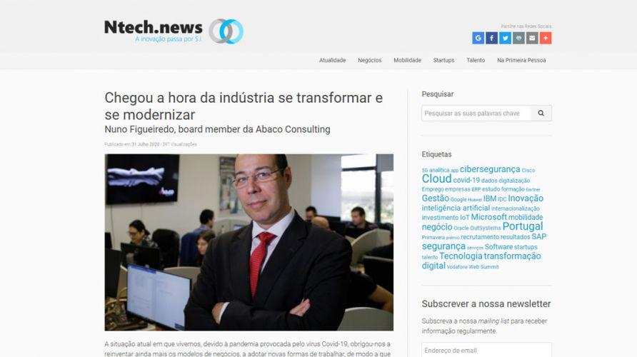 N.Tech News- Chegou a hora da indústria se transformar e se modernizar