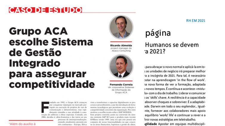 Grupo ACA escolhe Sistema de Gestão Integrado para assegurar competitividade