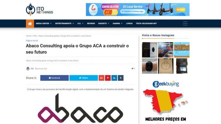 Abaco Consulting apoia o Grupo ACA a construir o seu futuro