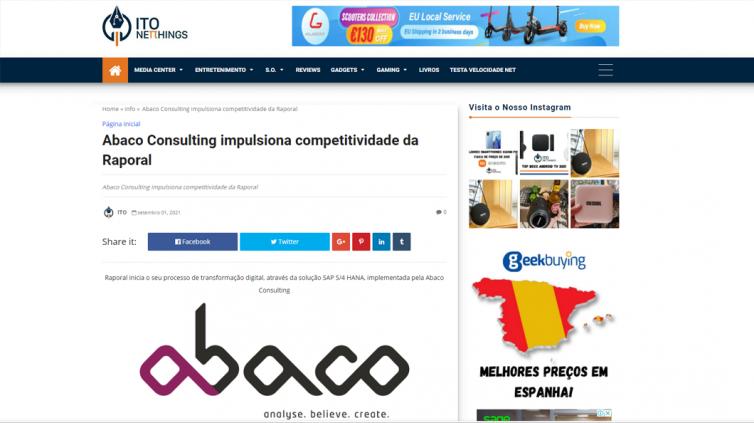 Abaco impulsiona competitividade da Raporal