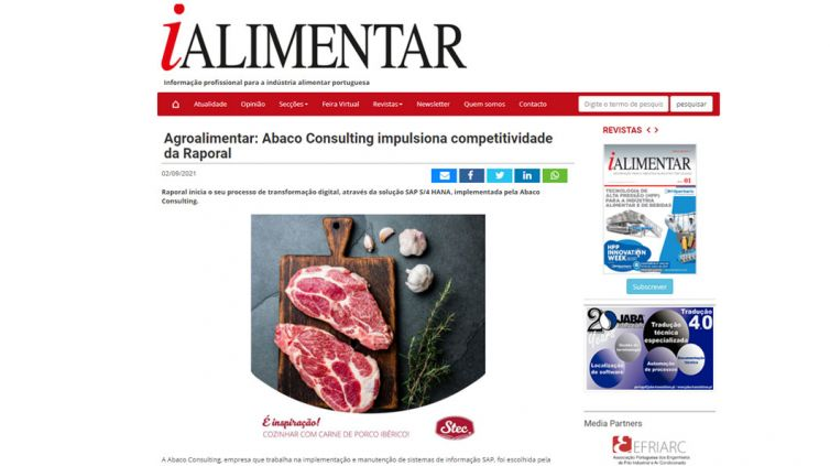 Agroalimentar: Abaco Consulting impulsiona competitividade da Raporal
